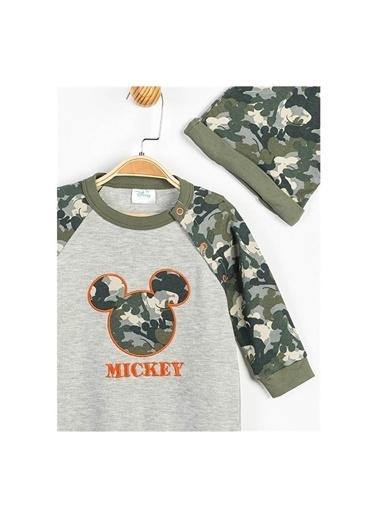 Disney Mickey Mouse Patiksiz Tulum Ve Şapka Gri